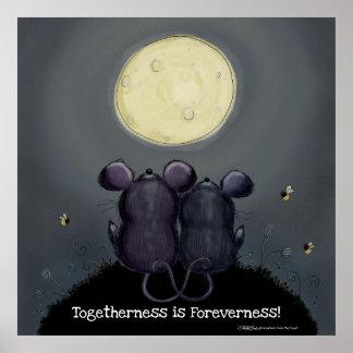 Cheesy Moon Poster