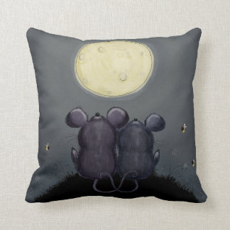 Cheesy Moon Throw Pillow