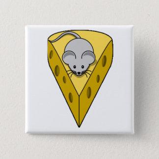 Cheesy Mouse 2 Inch Square Button