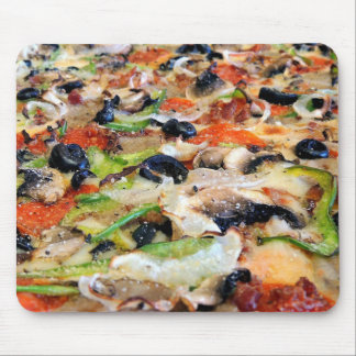 Cheesy Mushroom Green Pepper Pizza Funny Mouse Pad