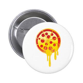 Cheesy pizza 2 inch round button