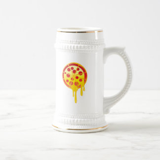 Cheesy pizza beer steins