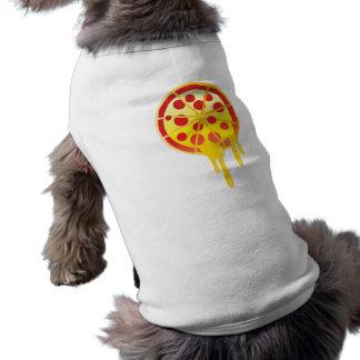 Cheesy pizza doggie tee shirt