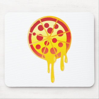 Cheesy pizza mouse pad