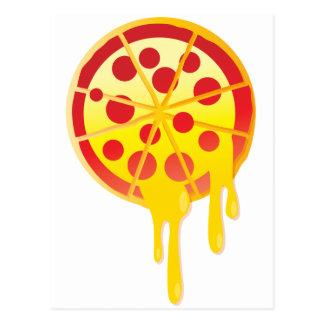 Cheesy pizza postcard