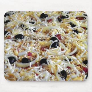 Cheesy Pizza Toppings Funny Mouse Pad