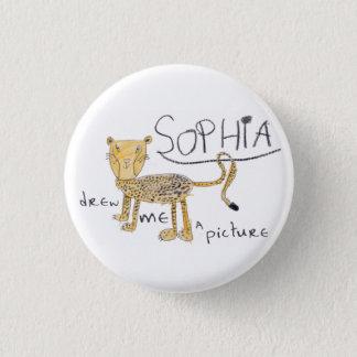 Cheetah 1 Inch Round Button