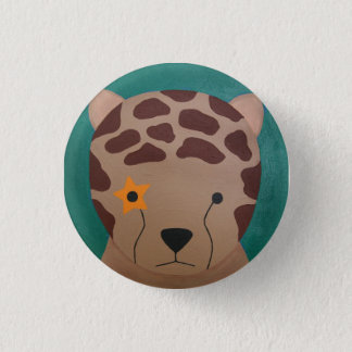 Cheetah 1 Inch Round Button