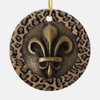 Cheetah 2 ceramic ornament