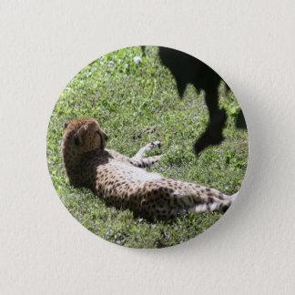 Cheetah 2 Inch Round Button