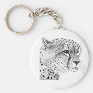 Cheetah 5.7 cm Basic Button Key Ring