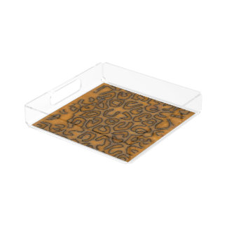 Cheetah Abstract Pattern Serving Tray
