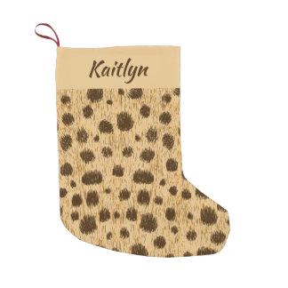 Cheetah Animal Print Christmas Stocking Your Name