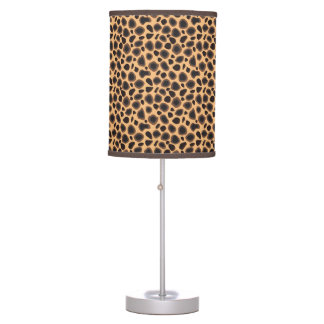 Cheetah Animal Print Desk Lamps