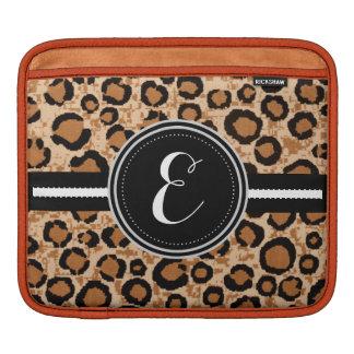 Cheetah Animal Print Monogram Case Sleeves For iPads