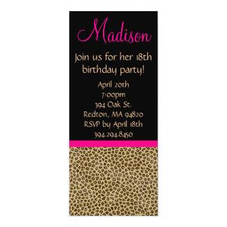 Cheetah Birthday Invitation