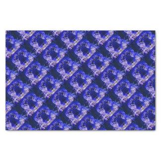 cheetah blue fractal design tissue paper