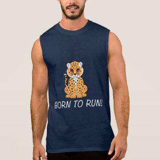 Cheetah: Born to Run! Sleeveless Shirt