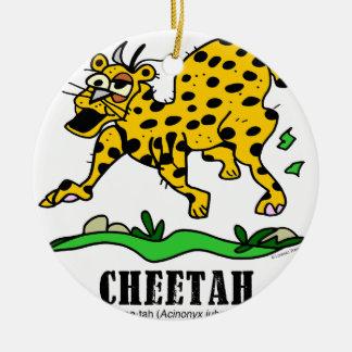 Cheetah by Lorenzo © 2018 Lorenzo Traverso Ceramic Ornament