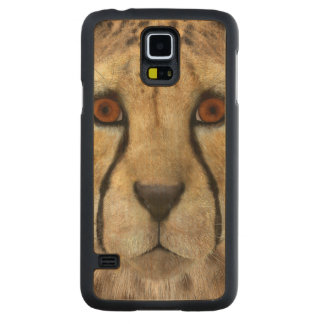 Cheetah Carved Maple Galaxy S5 Case