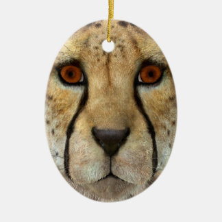 Cheetah Ceramic Ornament
