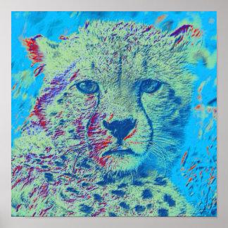 Cheetah colorful version poster
