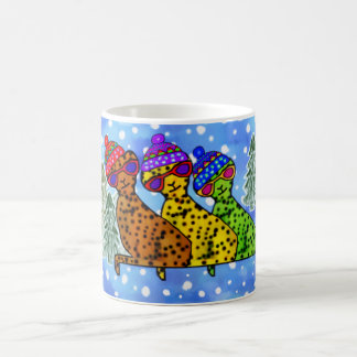 Cheetah Cool Cats Snow Day Mugs