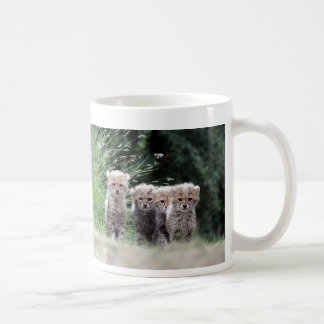 Cheetah cubs coffee mug