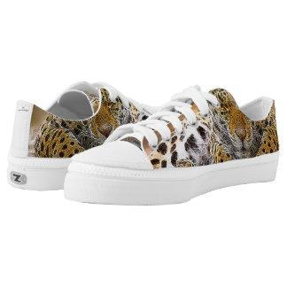 Cheetah Custom Zipz Low Top Shoes