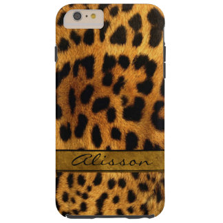 Cheetah Fur iPhone 6 Plus Custom Monogram Case