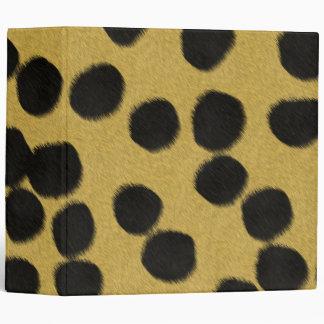 Cheetah fur texture print 3 ring binders