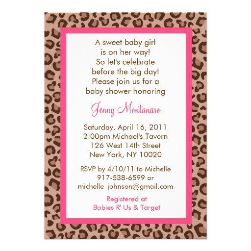 cheetah girl animal print baby shower invitations zazzle