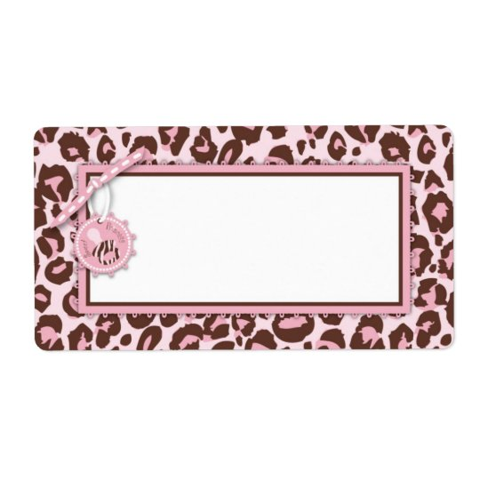 Cheetah Girl Name Tag Pink A