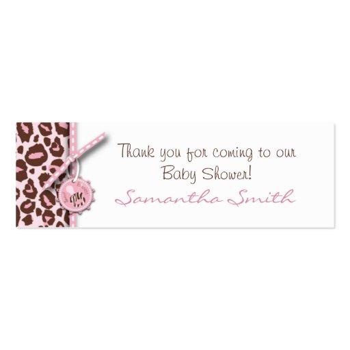 Cheetah Girl Skinny Gift Card Pink B Business Card