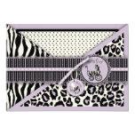 Cheetah Girl TY Card Lilac Invite