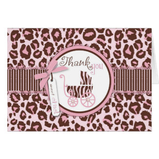 Cheetah Girl TY Card Pink B