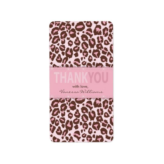Cheetah Girl TY Mini Hershey Bar Label