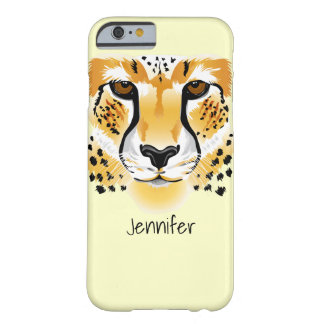cheetah head close-up illustration barely there iPhone 6 case