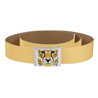 cheetah head close-up illustration belt