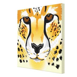 cheetah head close-up illustration canvas print