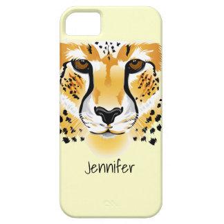 cheetah head close-up illustration iPhone 5 case