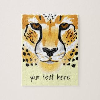 cheetah head close-up illustration jigsaw puzzle