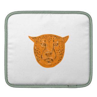 Cheetah Head Drawing iPad Sleeve