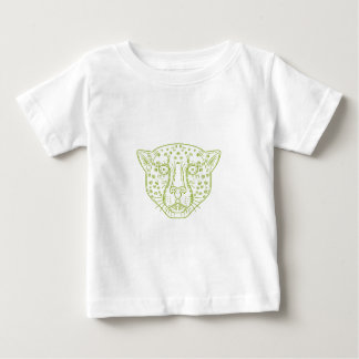 Cheetah Head Mono Line Baby T-Shirt