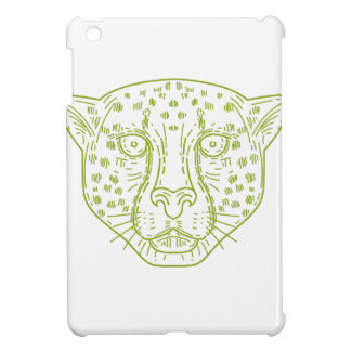 Cheetah Head Mono Line Case For The iPad Mini
