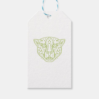 Cheetah Head Mono Line Gift Tags