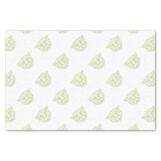 Cheetah Head Mono Line Tissue Paper