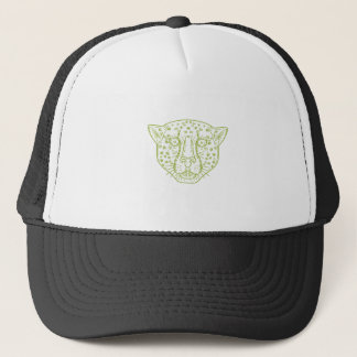 Cheetah Head Mono Line Trucker Hat