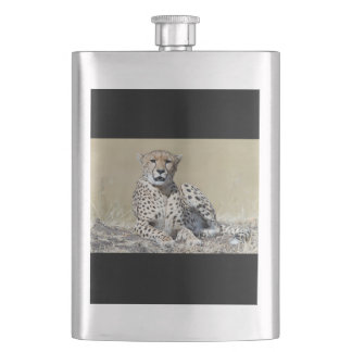Cheetah Hip Flask
