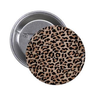 cheetah leopard print 2 inch round button